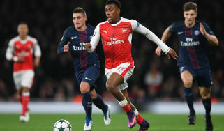 Alex Iwobi Arsenal vs PSG