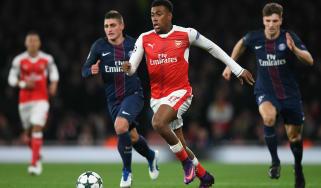 Alex Iwobi Arsenal vs PSG