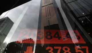 Markets fall; Hong Kong shares; stockmarket
