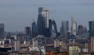 A general view over the London skyline and the Square Mile