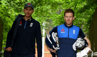 Alex Hales and England cricket one-day captain Eoin Morgan