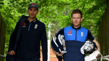 Alex Hales and England cricket one-day captain Eoin Morgan