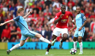 Kevin de Bruyne Paul Pogba, Manchester derby