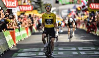 Team Sky cyclist Geraint Thomas won the 2018 Tour de France