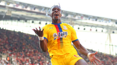 Wilfried Zaha scored against Arsenal in Crystal Palace's 3-2 win at the Emirates in April