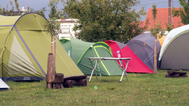 Tents on a campsite