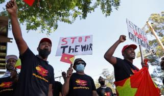 Tigray protesters