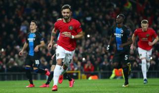 Bruno Fernandes scored Manchester United's opener in the 5-0 win over Club Bruges