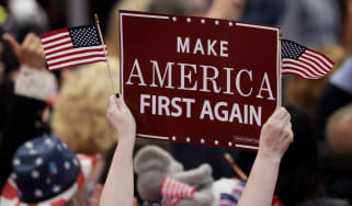 Donald Trump campaigned on a protectionist 'America First' platform