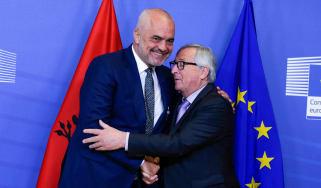 Edi Rama and Jean Claude Juncker