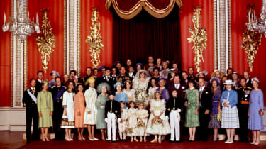 A group shot of various European royal families