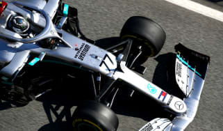 Mercedes driver Valtteri Bottas recorded the fastest lap in the first pre-season test in Barcelona