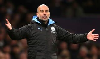 Manchester City's Spanish head coach Pep Guardiola