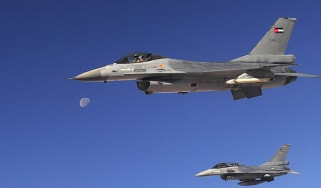 Jordanian F16 planes from the Royal Air Force