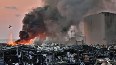 The aftermath of the explosion in the port of Beirut