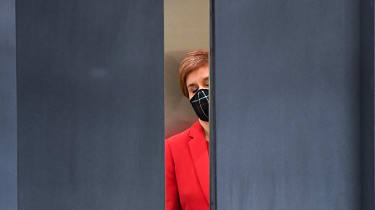 Nicola Sturgeon arrives for First Minster's Questions.
