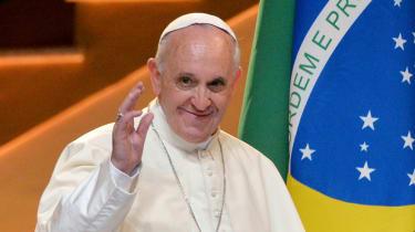 Pope Francis arrives in Rio de Janeiro
