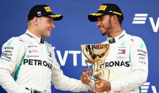 Lewis Hamilton Mercedes Valtteri Bottas F1 Russian GP
