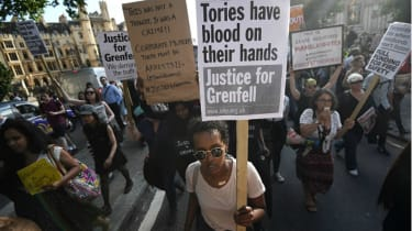 Grenfell fire protest