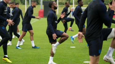 Raheem Sterling gun tattoo England World Cup squad