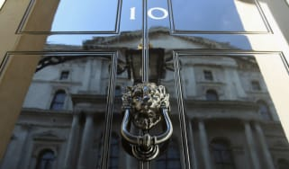 The door of number 10 Downing Street