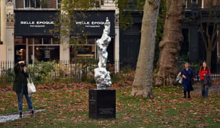 Statue of Mary Wollstonecraft in Newington Green, London