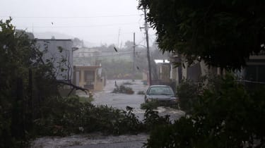 Damage caused by Hurricane Irma in Puerto Rico