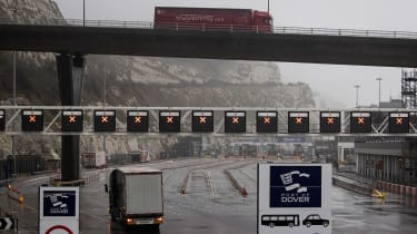 The empty port of Dover