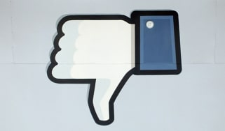 Facebook thumbs down symbol