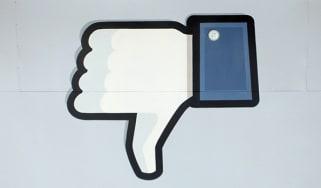 Facebook thumbs down symbol