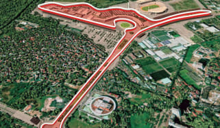 An artist's impression of what the F1 Vietnam Grand Prix street circuit will look like
