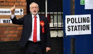 Jeremy Corbyn casts his vote in last year's general election