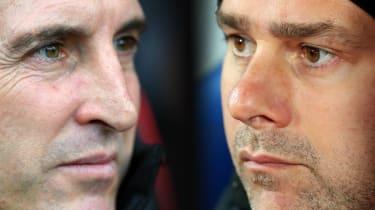 Arsenal manager Unai Emery and Tottenham Hotspur boss Mauricio Pochettino