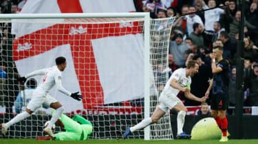 England captain Harry Kane made a goal and scored one against Croatia