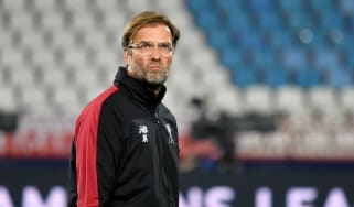 Liverpool manager Jurgen Klopp takes a training session at the Rajko Mitic Stadium in Belgrade
