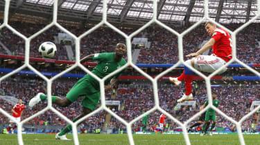 Artem Dzyuba goal Russia vs. Saudi Arabia World Cup