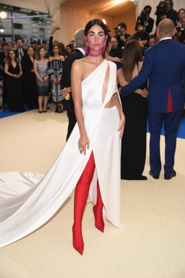"""NEW YORK, NY - MAY 01:Lily Aldridge attends the """"Rei Kawakubo/Comme des Garcons: Art Of The In-Between"""" Costume Institute Gala at Metropolitan Museum of Art on May 1, 2017 in New York City.(P"""