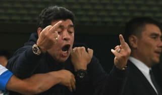 Diego Maradona World Cup Argentina vs. Nigeria