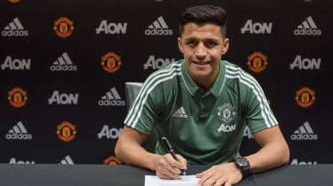 Alexis Sanchez moved from Arsenal to Manchester United in January 2018