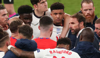 Gareth Southgate and England players in Euro 2020