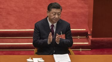 Xi Jinping at the opening of the National People's Congress in March