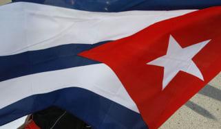 A Cuban flag is waved in Havana