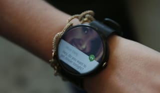 A Motorola Moto 360 watch seen during the Google I/O Developers Conference