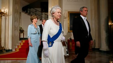 George W Bush and the Queen