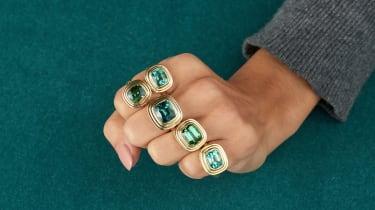 Minka tourmaline rings