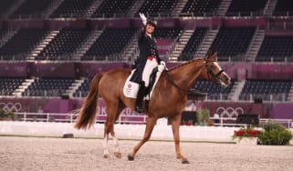 In Tokyo Charlotte Dujardin won two bronze medals riding Gio