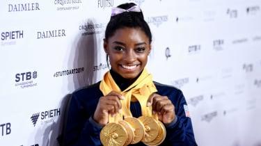 Simone Biles won five gold medals at the 2019 Gymnastics World Championships in Stuttgart