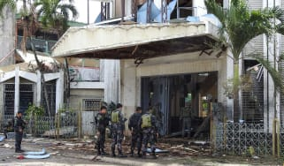 Islamic State has claimed a deadly church bombing in the Philippines