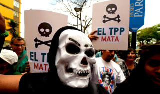 The TPP has sparked huge protests around the Pacific
