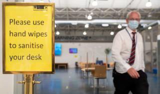 Covid precautions at a school in Bolton